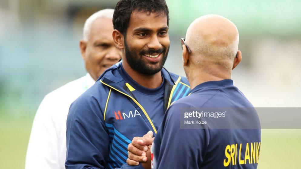 "Chamika Karunaratne Receives Bat from Hardik Pandya his ""role model"""