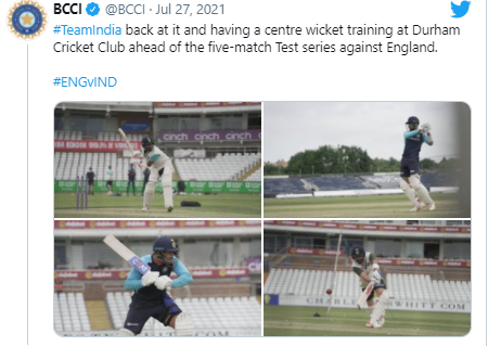 Virat Kohli leads center-wicket training session in Durham: India in England
