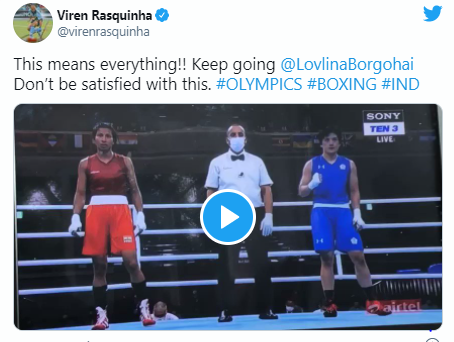 Lovlina Borgohain as she reached the medal rounds at Tokyo 2020