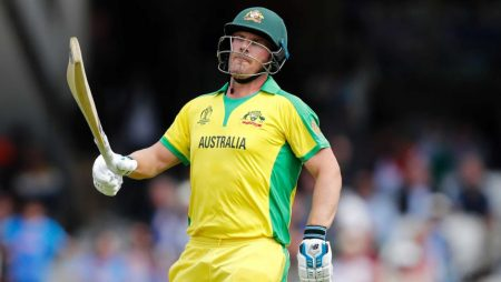 Captain Aaron Finch is on track to lead the team at the T20 World Cup series
