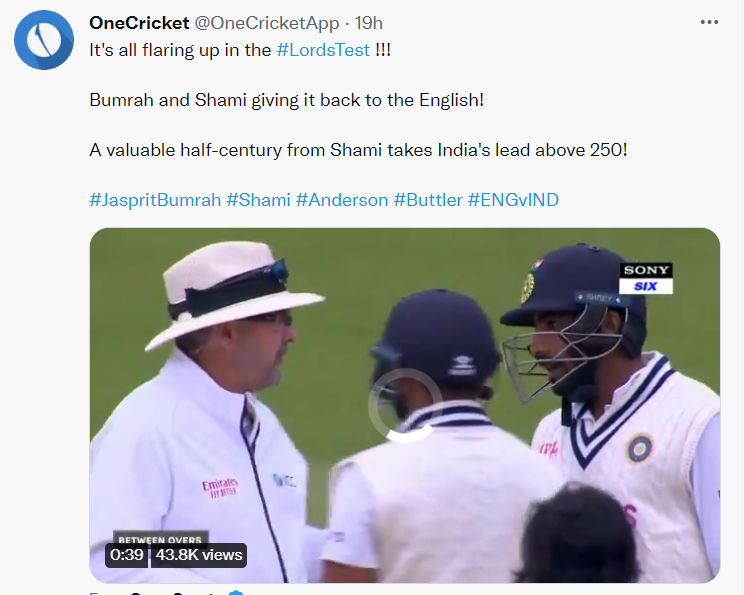 Jasprit Bumrah's verbal battle with England players in a Test match