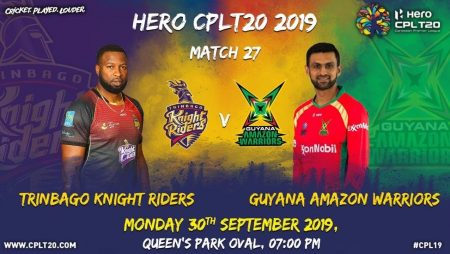 Guyana Amazon Warriors limits Trinbago Knight Riders at the beginning of the Caribbean Premier League 2021