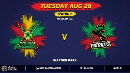 Guyana Amazon Warriors vs St Kitts and Nevis Patriots Prediction for the  Caribbean Premier League 2021: CPL 21