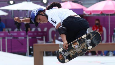 Sakura Yosozumi won gold in women's park skateboarding in Tokyo 2020