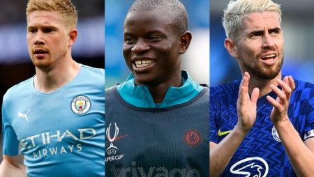 Kevin de Bruyne and Chelsea pair Kante and Jorginho are included for UEFA's 2020-2021 male player of the year award
