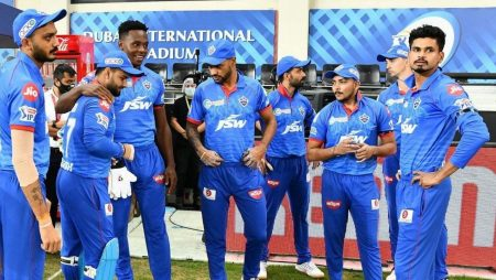 Delhi Capitals squad give way in a foot-volley game during practice for Indian Premier League: IPL 21