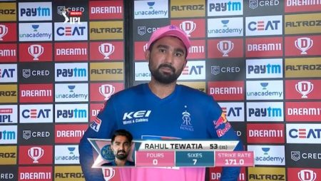 """Rahul Tewatia """"My goal will always be to make Rajasthan Royals win"""" in Indian Premier League: IPL 2021"""