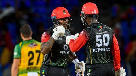 Odean Smith smashes Chris Gayle's bat in Caribbean Premier League: CPL 2021