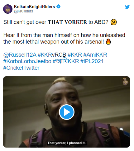 Andre Russell says ''I planned it'' to AB de Villiers in the Indian Premier League: IPL 21