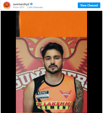 Manish Pandey sends a message to Sunrisers Hyderabad fans in Indian Premier League: IPL 2021