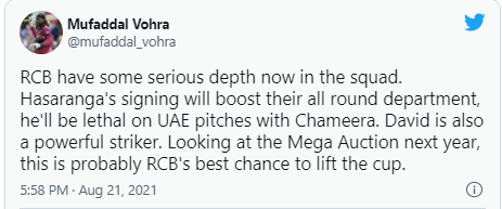 """Chopra on players """"RCB have had the most problems"""" in Indian Premier League: IPL 2021"""