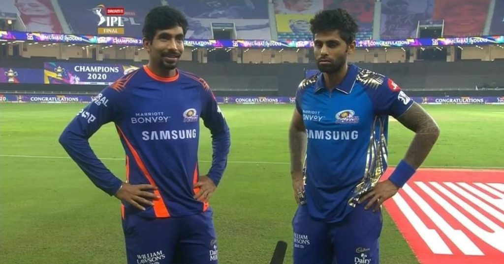 """Jasprit Bumrah and Suryakumar Yadav's conversation """"Do you have water?"""" in the Indian Premier League: IPL 2021"""