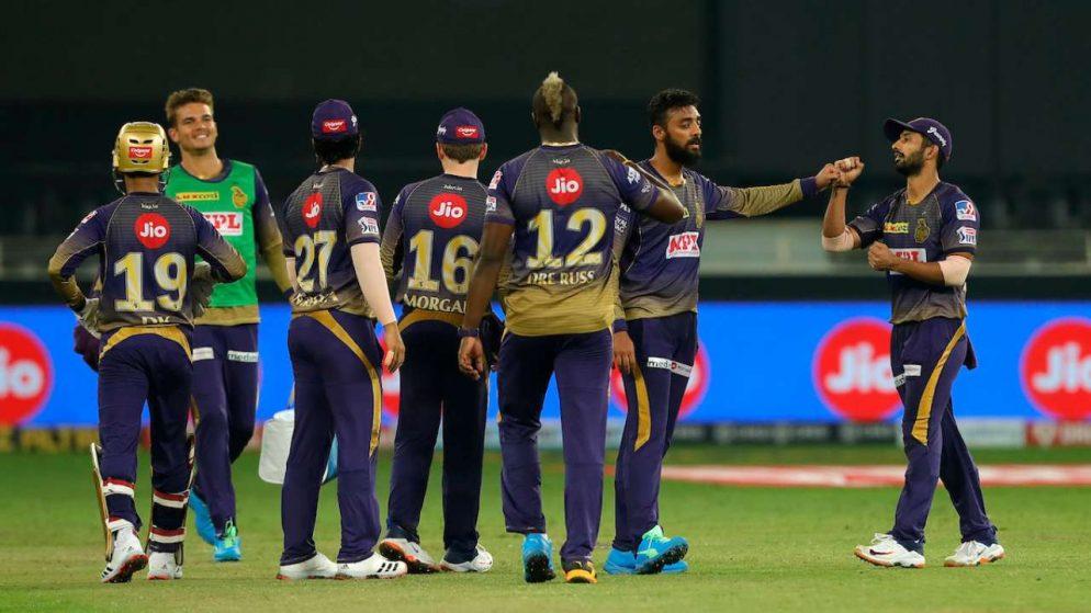 Kolkata Knight Riders' passionate celebrations after win in IPL 2021