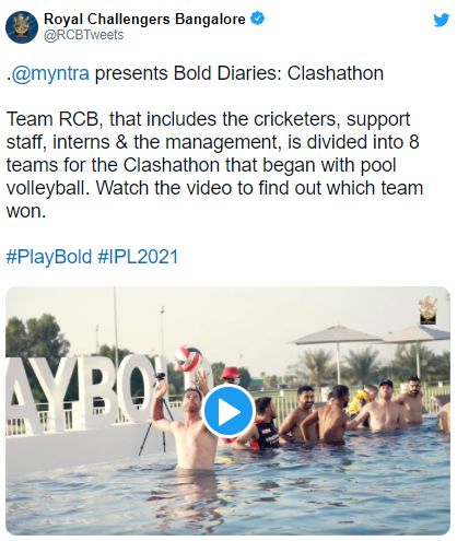 Royal Challengers Bangalore contingent compete in pool volleyball: IPL 2021