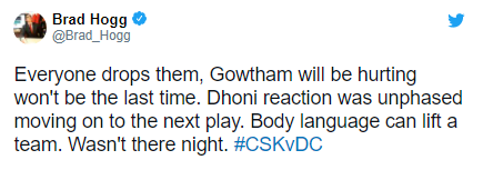 Brad Hogg defense Chennai Super Kings cricketer Krishnappa Gowtham: IPL 2021