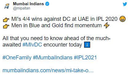 Suryakumar Yadav against Delhi Capitals in IPL 2021